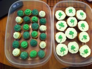 st. pattys cupcakes