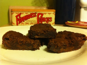milk dud brownies