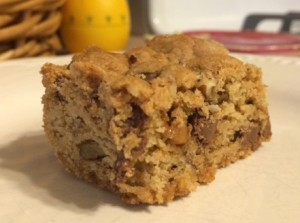 pecan choc chip toffee blondies