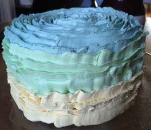 spring ruffle cake
