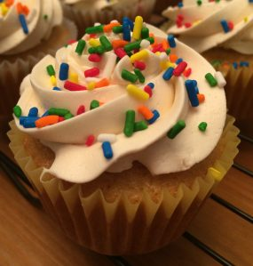 classic sprinkle cupcakes