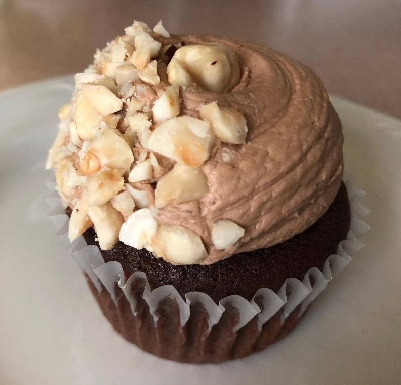 hazelnut mocha cupcake